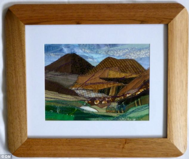Josie's last four exhibitions of the intricate textile collages she makes of images of Snowdonia have sold out