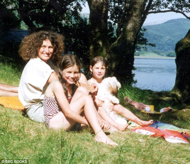 Josie with her mother Lin, her sister Megan and her dog Lucy, pictured a year before the appalling tragedy