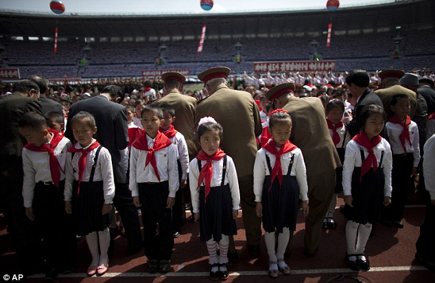 First steps into tyranny: A ceremony to induct North Korean children into the Korean Children's Union