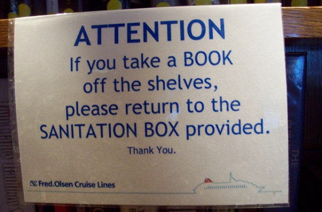 Contagion: Even the books on the the ship run by Fred Olsen Cruise Lines had to be sanitised