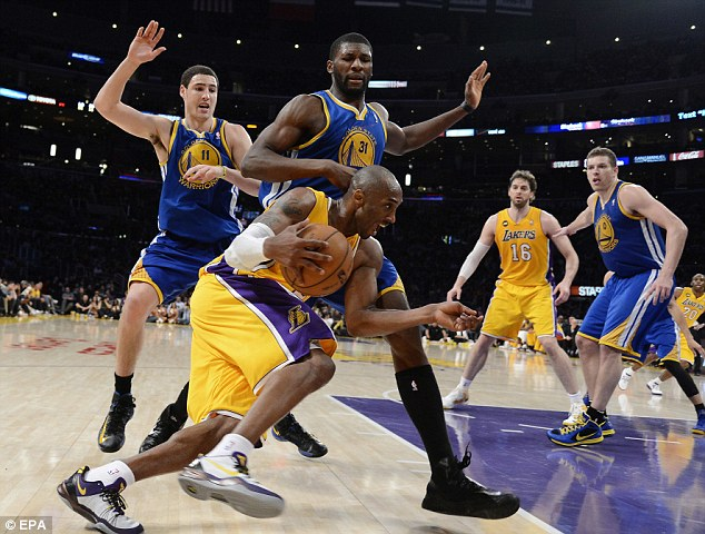 Million dollar contract: Kobe is to make nearly $30.5 million next season in the final year of his deal with the Lakers