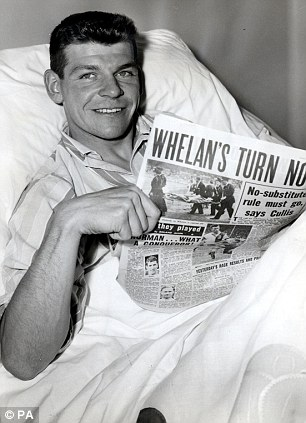 Dave Whelan in hospital after his leg break