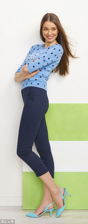 Sweater, £69, and shoes, £99, boden.co.uk, Trousers, £95, reiss.com