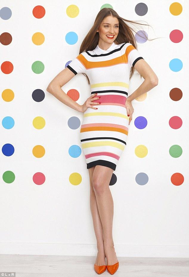 Dress, £110, karenmillen.com, Shoes,£99, boden.co.uk