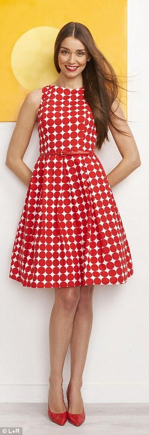 Dress, £49, bhs.co.uk, Belt, £39, Twiggy at Fenwick, 020 7629 9161 Courts, £165, russellandbromley.co.uk