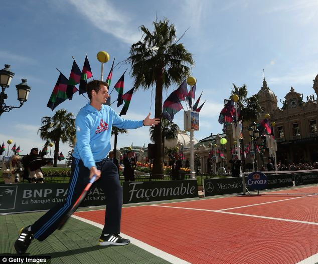 Ready to win: Murray believes he is in top form ahead of the clay season