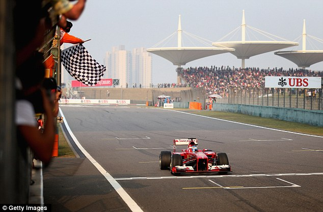 On top: The Spaniard claimed his second podium of the season after his second place in Melbourne