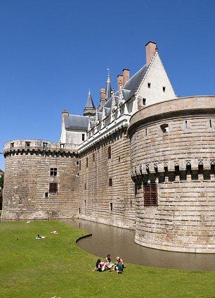 The Chateau des Ducs de Bretagne in Nantes, France