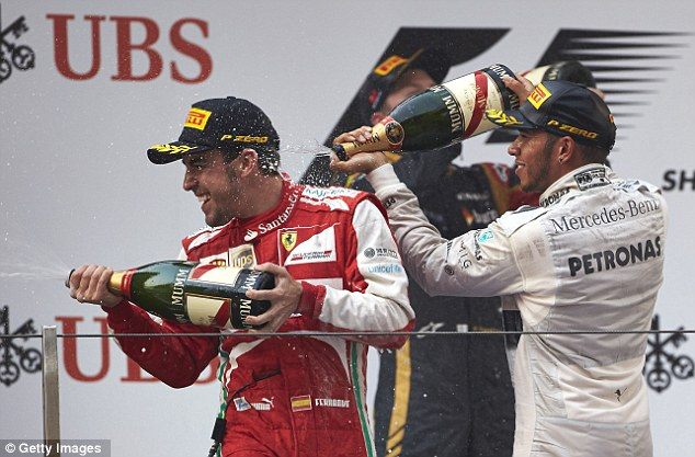 Pleased: Lewis Hamilton was happy with his third-placed finish in Shanghai
