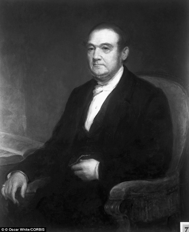 Rich: William B. Astor Sr., pictured, married into the 420-acre estate in 1818 and made his fortune selling fur and real estate