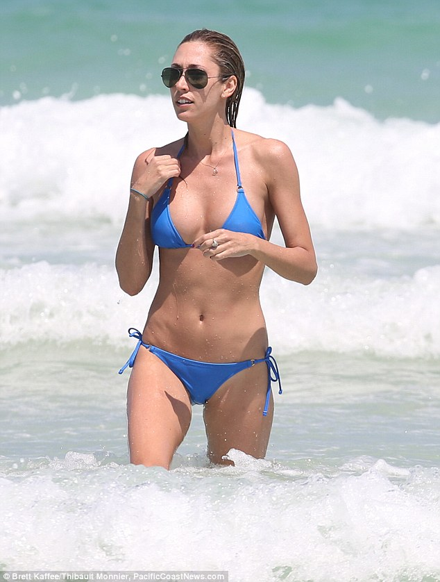 Resident beach bunny: South Beach is a favourite spot of Lauren's and where she always attracts attention