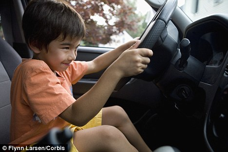 Talk about a student driver: The six-year-old boy hit a street sign and said he was taking the car to get fixed when he was forced to stop by other drivers (stock photo)