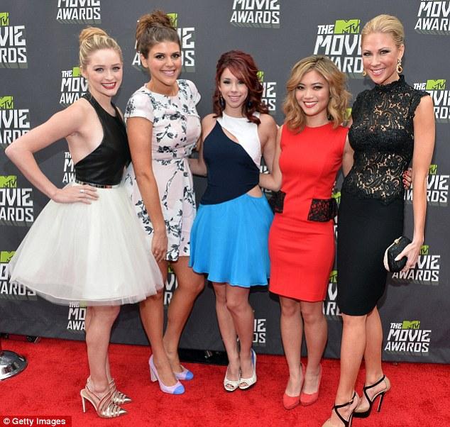 The cast of Awkward:  (L-R) Greer Grammer, Molly Tarlov, Jillian Rose Reed, Jessica Lu and Desi Lydic