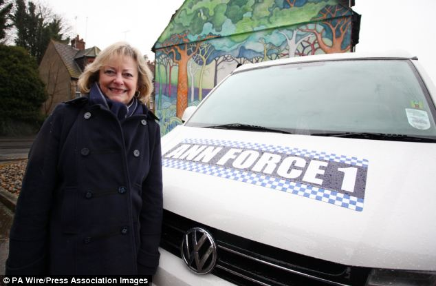 Battle bus: Kent police commissioner Ann Barnes has used the £15,000 bus for an outreach community tour