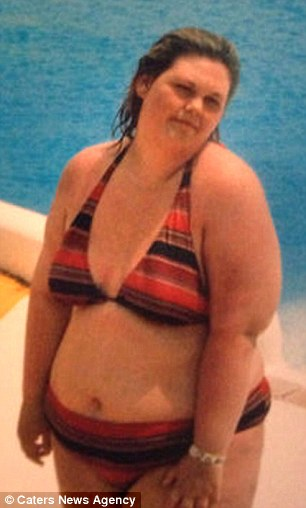 Transformed: Emma Burton, 22, has lost 17 stone