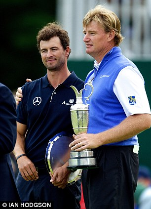 Scott with Open champion Ernie Els last summer