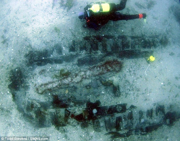 Diver Robin Burrows explores the newly discovered wreck of a ship believed to have been sailed by Sir Walter Raleigh