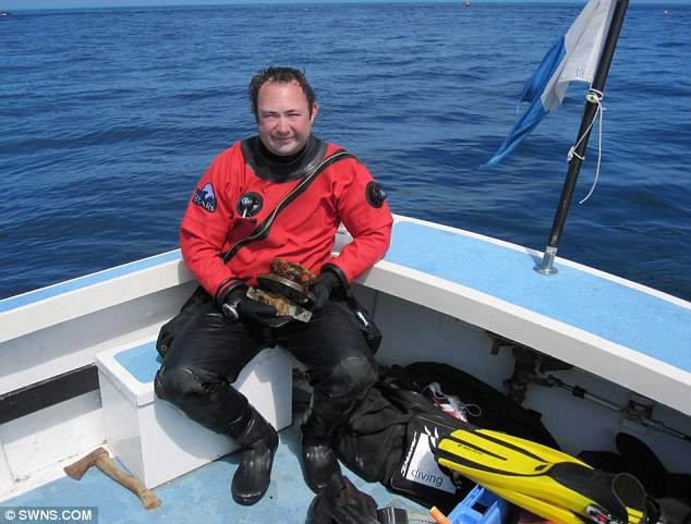 Diver Robin Burrows believes the ship could have been the Flying Joan, one of the fleet on one of the last voyages led by Sir Walter Raleigh before he was executed at the Palace of Westminster in 1618