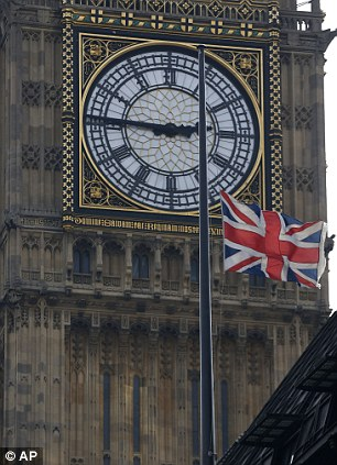 Silence: The chimes of Big Ben and Parliament's Great Clock will fall silent for the duration of Baroness Thatcher's funeral on Wednesday