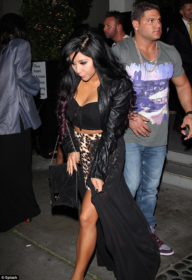 MTV reunion: Nicole 'Snooki' Polizzi and Ronnie Ortiz-Magro were seen as they Jersey Shore cast left STK in Hollywood, California on Sunday