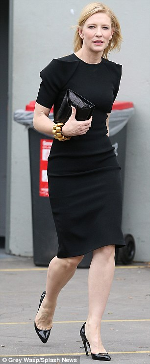 Classic: Cate wore a classic little black dress for the event