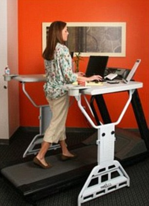 It comes after American experts created TrekDesk,  a desk that fits over a treadmill, enabling users to walk slowly while they work