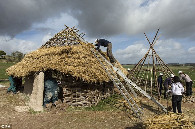 Attraction: Three of the Neolithic houses will form the focal point of the new £27-million visitor centre at Stonehenge