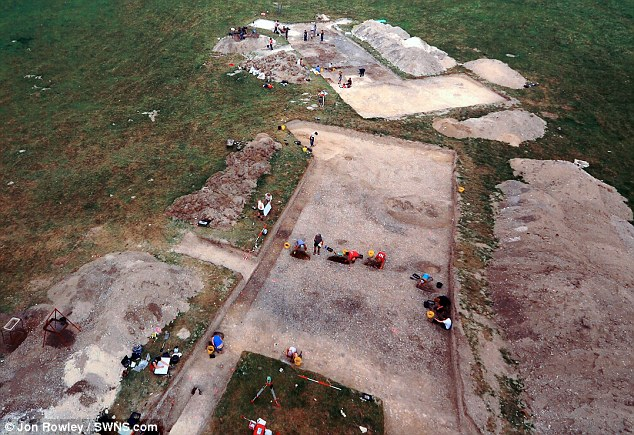 Discovery: The neolithic house recreations at Old Sarum are based on this excavation