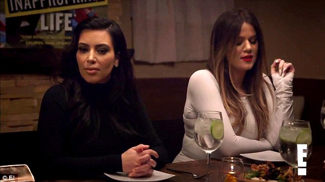 Comedy skit: Kim enjoyed a dinner party with comic Chelsea Handler and sisters Kourtney and Khloe, along with their momager Kris Jenner