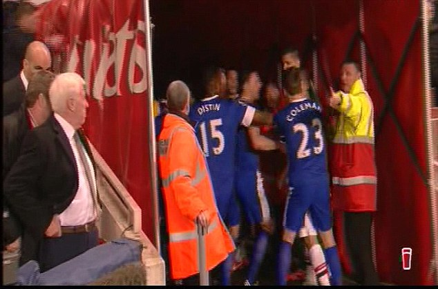 Handbags: The spat spilled over into the tunnel with a handful of other players weighing in on both sides