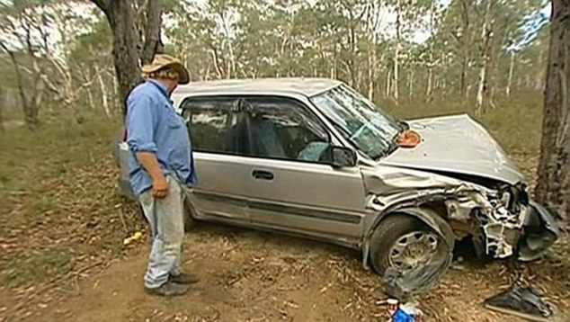 Ordeal: The car under which Mr Schutz was trapped for four days