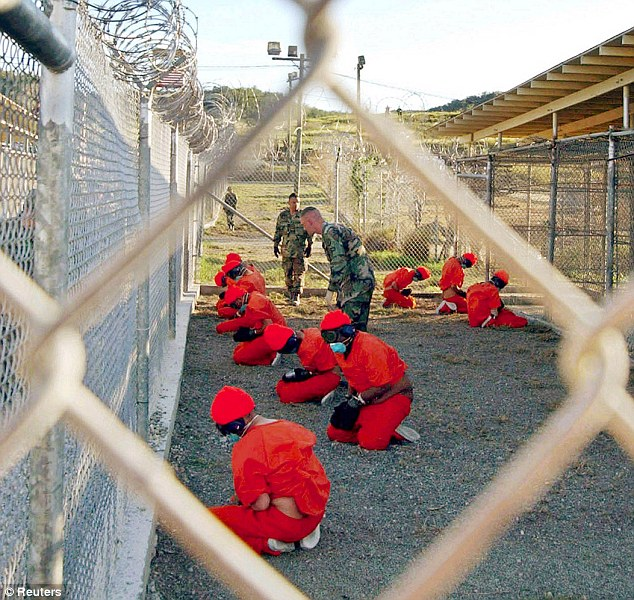 Damning: A report has strongly criticised Britain for colluding with the US in the torture and rendition of terror suspects. This image shows Guantanamo Bay in Cuba