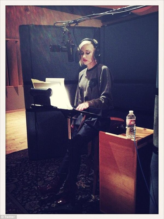 'Putting some serious hours in': Both Gwen and Gavin spent their weekend in the recording studio while laying down tracks for their respective bands