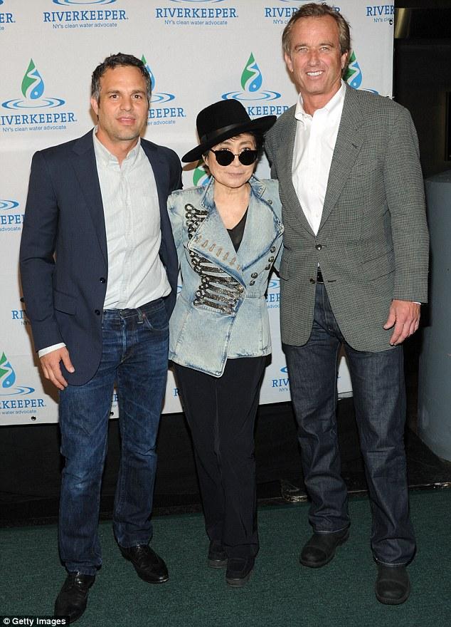 Star-studded showing: Mark Ruffalo, Yoko Ono and Robert F. Kennedy Jr. were in attendance for the Riverkeeper Fishermens Ball