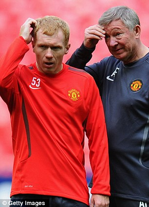 Wish they were all like you! Sir Alex Ferguson and Paul Scholes have spent 20 years together