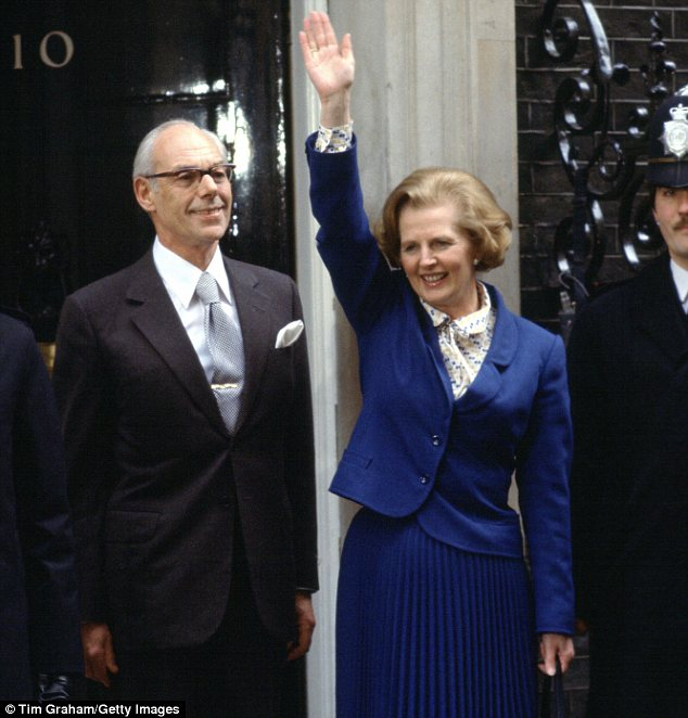 Reunited: Lady Thatcher's ashes will be interred alongside those of her beloved husband Denis
