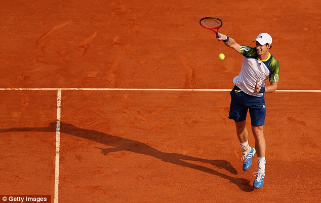 Last eight: Murray was knocked out of the French Open in 2012 at the quarter-final stage by David Ferrer