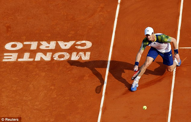 Quick: The British No 1 needed just one hour and 12 minutes to see off the Frenchman in Monte Carlo