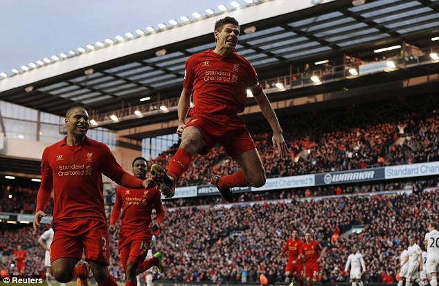 Soaring: Liverpool are the fifth English club in the top 10