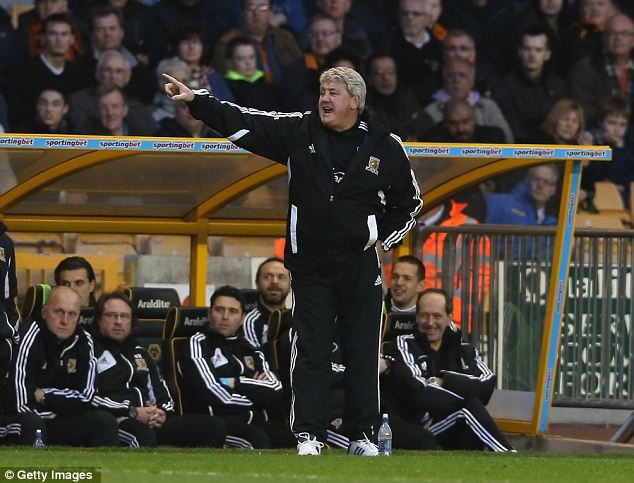 Serious business: Steve Bruce is within touching distance of the Premier League