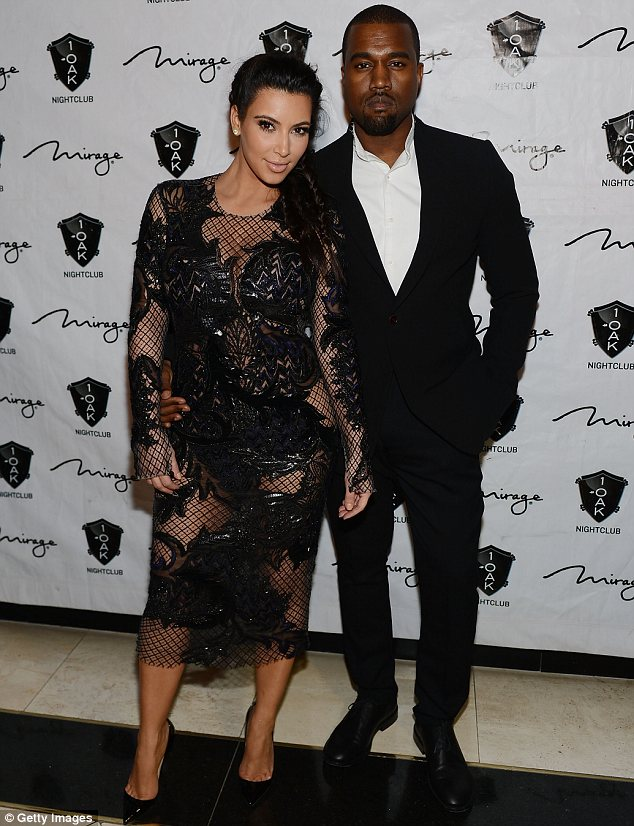 Together but apart: Kim has been based in Los Angeles throughout her pregnancy while her boyfriend Kanye West has mostly been in Paris since February