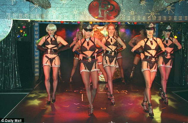 Dancers in action at Raymond Revuebar in Soho, central london