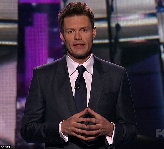 Dedication: Ryan Seacrest spoke on behalf of everyone on the show when he paid tribute to the people of Boston