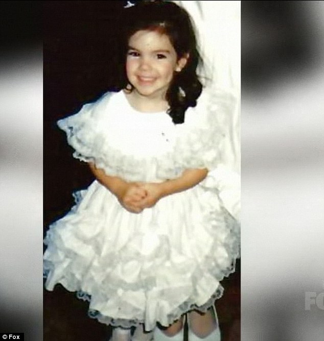 Irresistible: Kree will have won some sympathy votes after this cute picture of her as a girl was shown