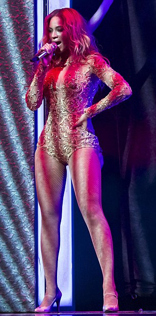 Beyonce on stage in Croatia