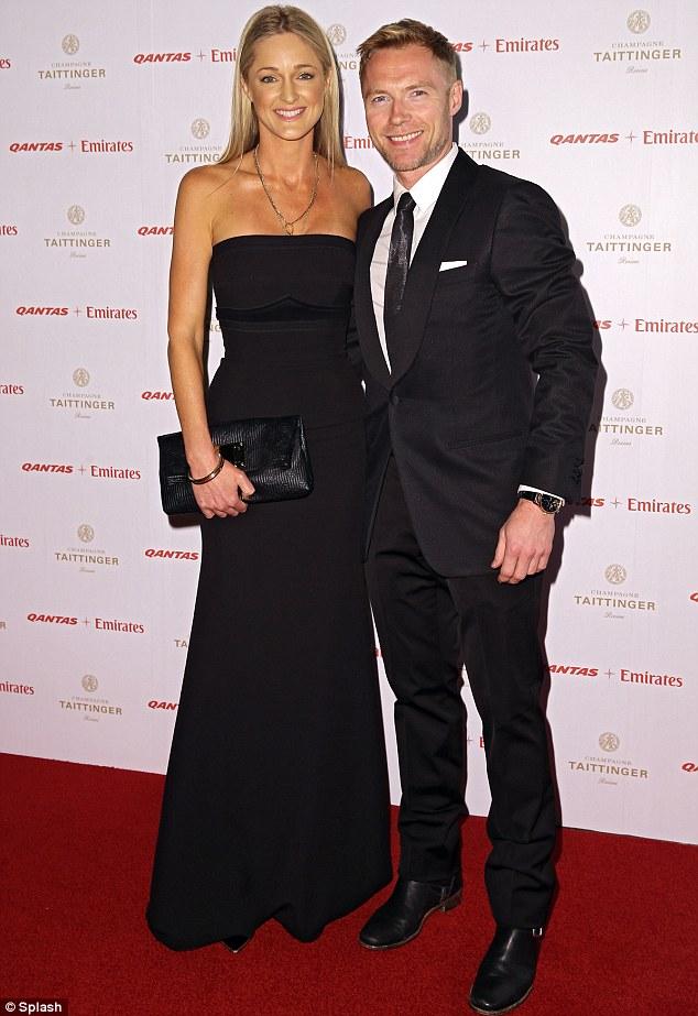 Smart: X Factor Australia judge Ronan Keating and girlfriend Storm Uechtritz