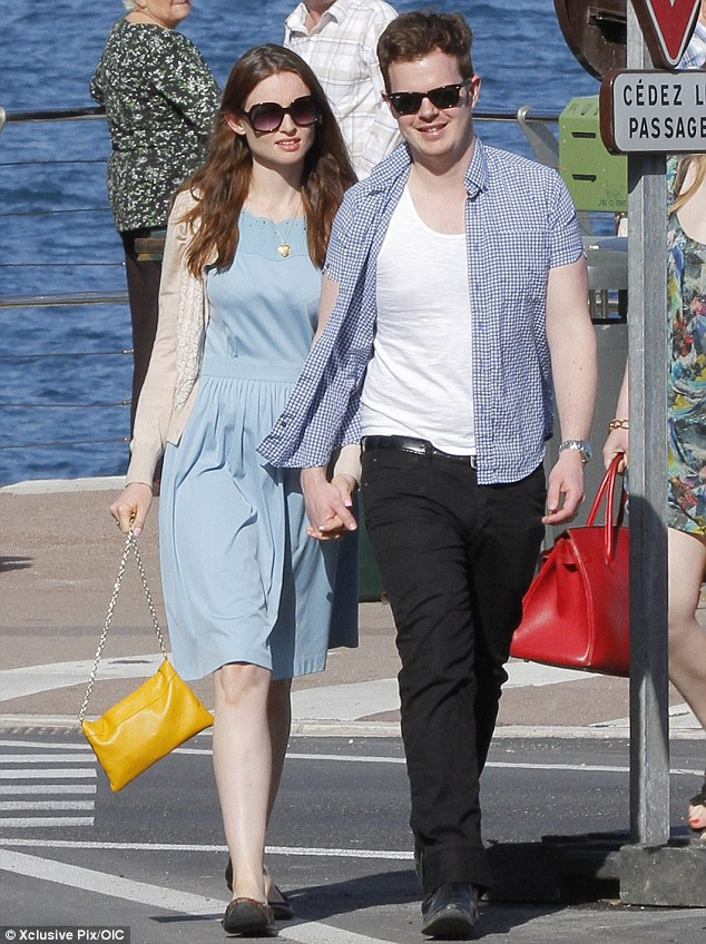 Romantic break: Sophie Ellis-Bexter and her husband Richard Jones were seen on holiday in Monte Carlo over the weekend