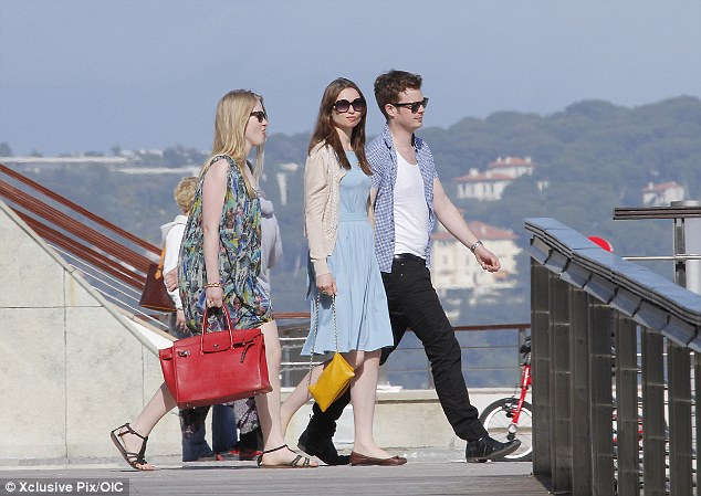 Walk the line: The cute couple were without their three children for the weekend break