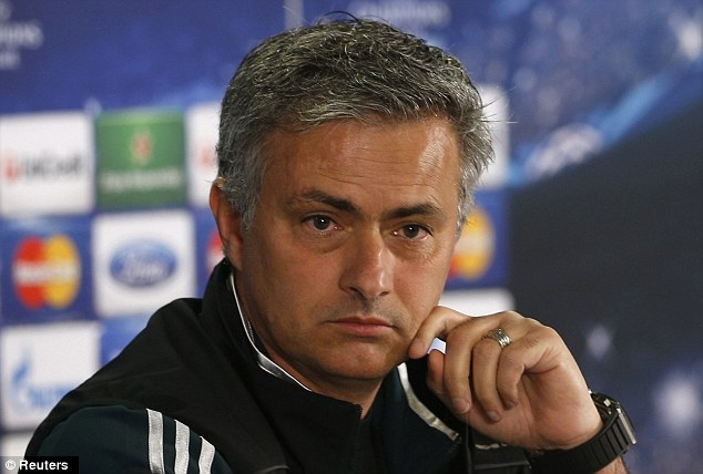 Concern: Jose Mourinho flew in to London to be with his wife and daughter after a laptop was stolen from their room at a five-star west london hotel