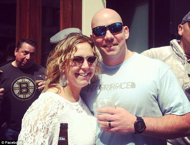 Fate: Patterson and Chase, pictured with wife Dena, were thrown together by fate and worked as a team to save the bleeding boy
